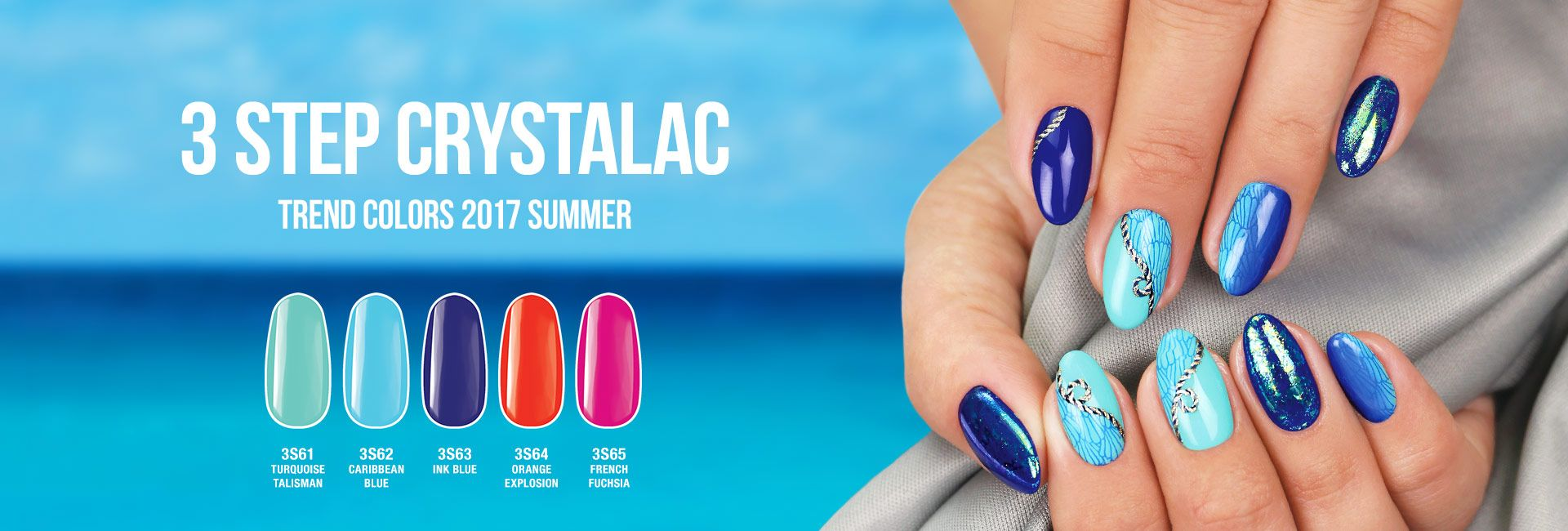3 Step Crystalac Trend Colours 2017 Summer